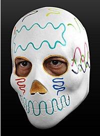 Tag der Toten-Maske Zuckerschädel aus Latex