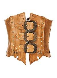 Taillencorsage aus Leder nussbraun