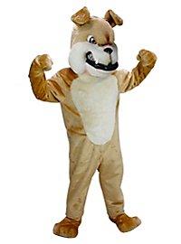 Tan Bulldog Mascot