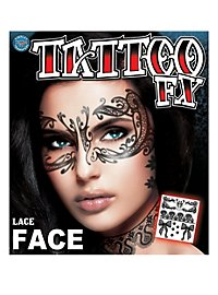 Tatouage décalcomanie visage burlesque
