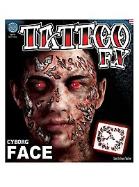 Tatouage décalcomanie visage cyborg