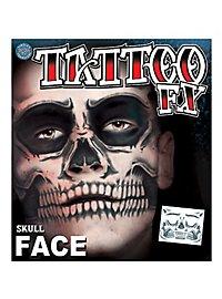 Tatouage décalcomanie visage tête de mort