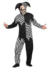 Teufelsnarr schwarz-weiß Kostüm