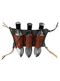 Throwing Dagger Holder Triple brown
