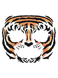 Tiger Gesicht-Klebetattoo