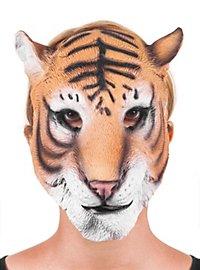 Tiger Halbmaske aus Latex