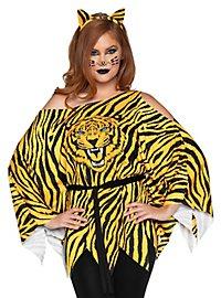 Tiger Poncho-Shirt mit Tigerohren