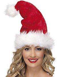 Tinsel Christmas cap