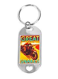 Tintin Motorcycle XXL Dog Tag Keychain