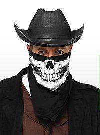 Totenkopf Halstuch schwarz-weiß
