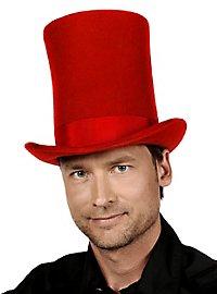 Très grand chapeau haut-de-forme rouge