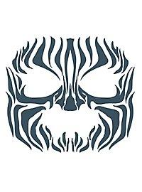 Tribal Zebra Gesicht-Klebetattoo