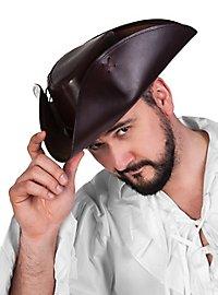 Leather tricorn hat - Hawkins