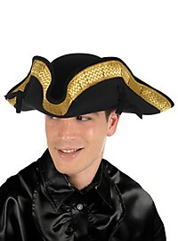 Tricorne Black with Gold Trim