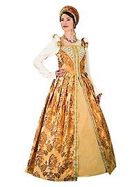 Renaissance Kleid - Tudor, bernstein