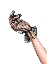 Tüll Handschuhe gepunktet