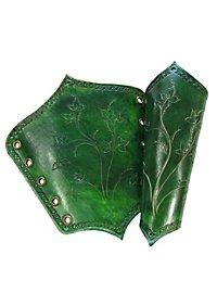 Brassards de guerrière elfe verts