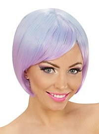 Two-Tone ladies wig blue-purple