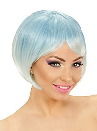 Two-Tone ladies wig blue-turquoise