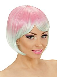 Two-Tone ladies wig pink-turquoise