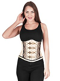 Underbust corsage pearl white