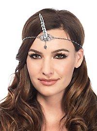 Unicorn forehead ring silver