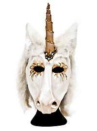Unicorn Half Mask Made of Leather