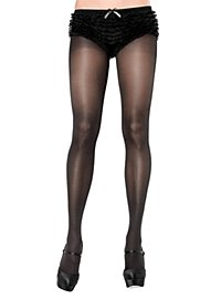 Unifarbene Strumpfhose schwarz