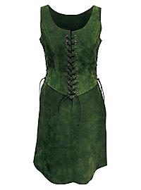 Uniforme d'aventurière en cuir vert