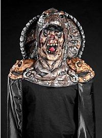 Untoter Schlangenkönig Maske mit Umhang