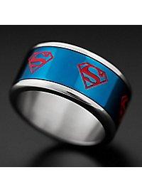 Superman Spinning Ring blue