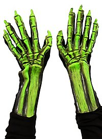 UV Knochenhände grün