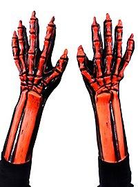 UV Knochenhände orange