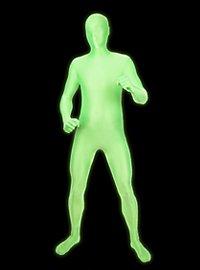 UV Morphsuit grün Ganzkörperkostüm