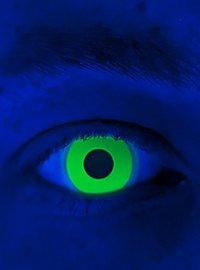 Lentilles de contact vertes UV