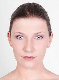 Hellblaue Kontaktlinsen Vampir