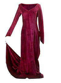 Velvet Dress wine red