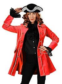 Velvet pirate coat red