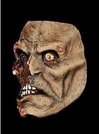Verätzter Zombie Halbmaske aus Latex