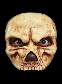 Vergilbter Schädel Halbmaske aus Latex