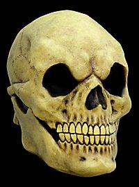 Vergilbter Schädel Maske des Grauens