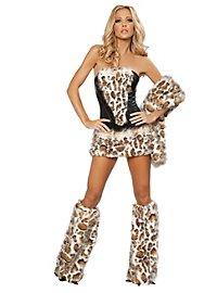 Verspielte Wildkatze Premium Edition Kostüm