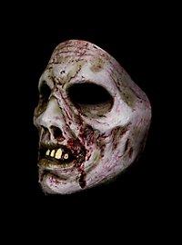 Verwester Zombie Halbmaske aus Latex