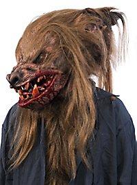 Verwilderter Werwolf Maske braun