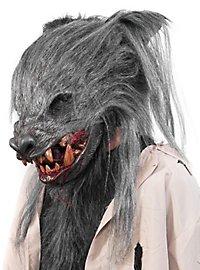 Verwilderter Werwolf Maske grau