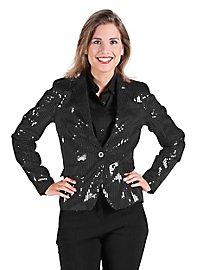 Veste à paillettes noire pour femme