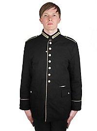 Veste d'officier noire avec trou pour épée