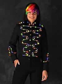 Veste LED à liseré doré pour femme