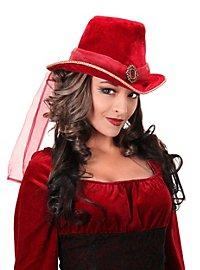Victorian Hat red