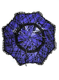 Victorian Parasol blue & black